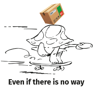 Logo-tortue & box+ slogan centré